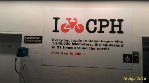 Kopenhag hava alanında bisiklet pompası