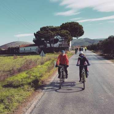 EuroVelo konsey üyesi Jens Erik Larsen ileSEeçuk'ta pedal çevirdik