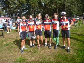 BikeForEurope 2018 ekibi Hoogeveen, Drenthe, Hollanda'da Trappen Happen Stappen etkinliğinde.